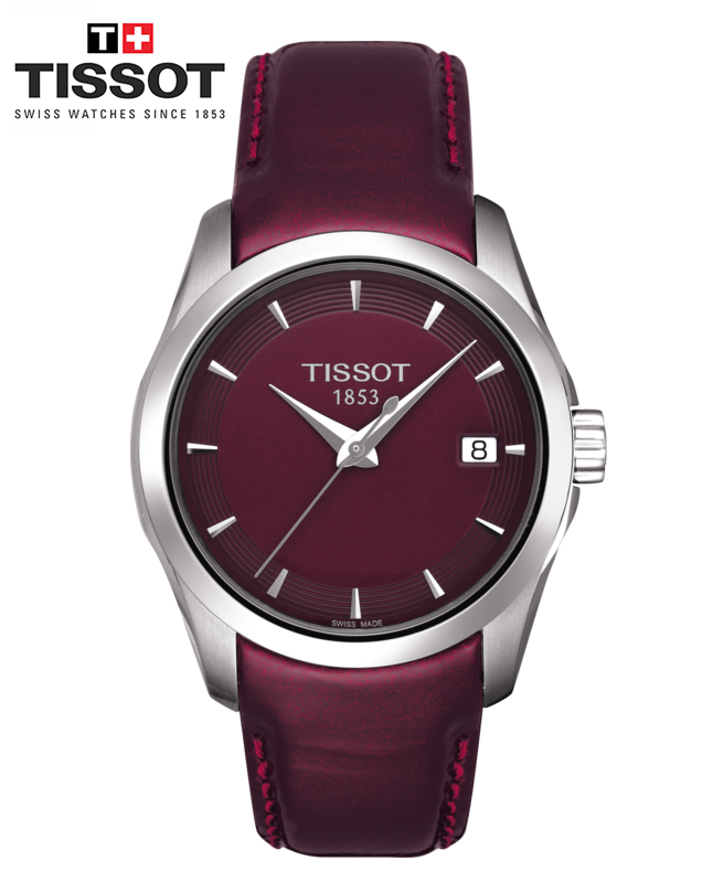 Montre TISSOT COUTURIER LADY - BORDEAUX