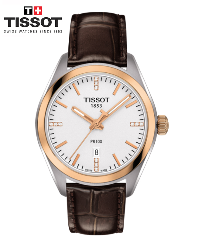 Montre TISSOT PR 100 LADY - Marron