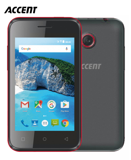 Portable Accent Cameleon C3 - 512 MB - 256 MB RAM - Android - Noir/Rouge