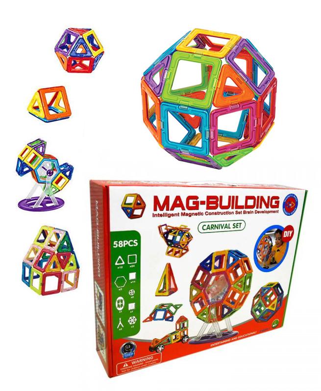 Mag Building 58 pc Magnétique pour le développement du cerveau - Montessori
