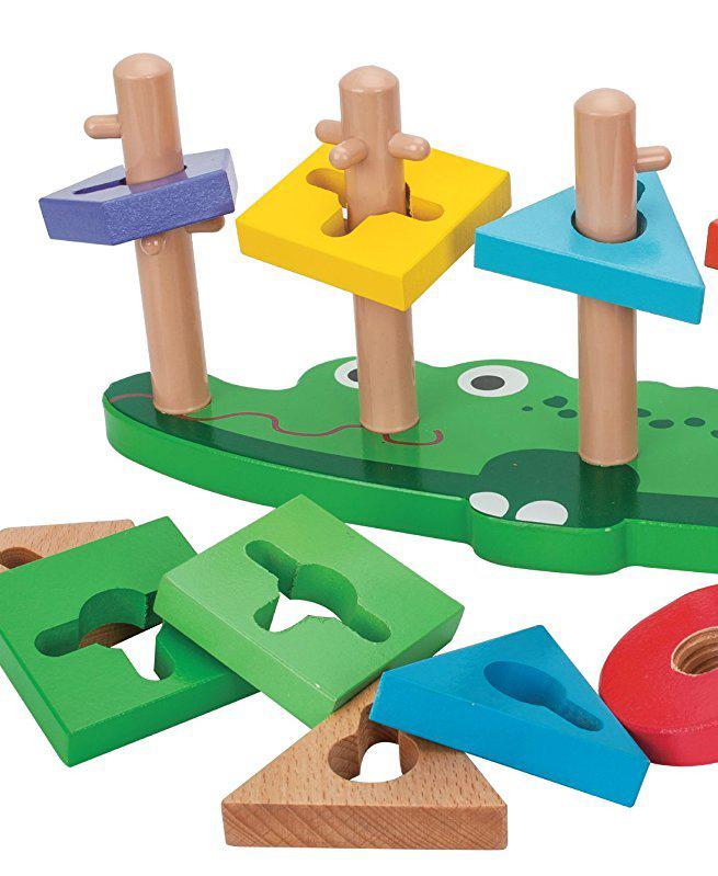 Mon Crocodile empileur en bois - Jouet Montessori