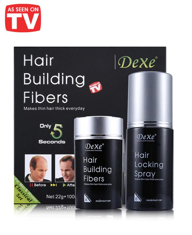 Dexe 2 pièces: Spray Vaporisateur - rajeunissement des Cheveux 22g - 100ml