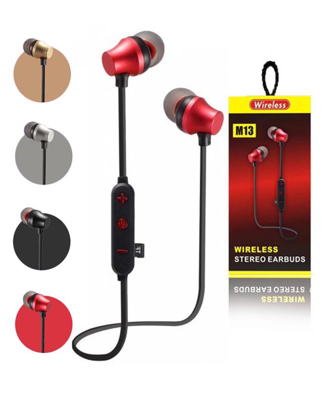 Ecouteurs Intra-Auriculaires M13 - Oreillette Bluetooth Sans Fil en Métal Magnétique