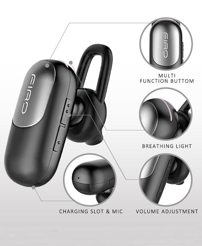 Ecouteurs Mini Firo M3 Bluetooth Mono Personnalisés V4.1 - Noir