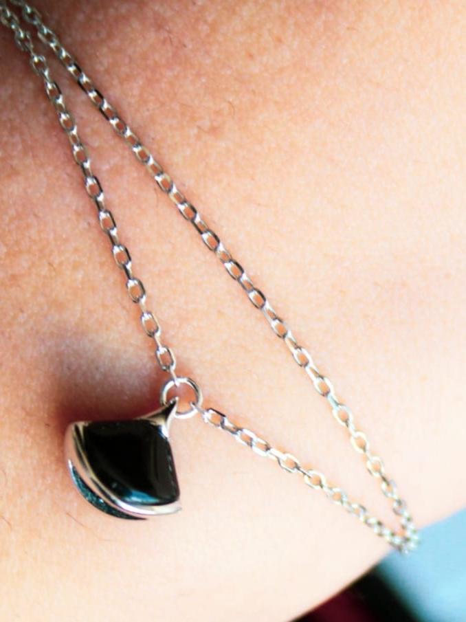 Bracelet Pierre Obscure en argent Certifié 925 pour femme