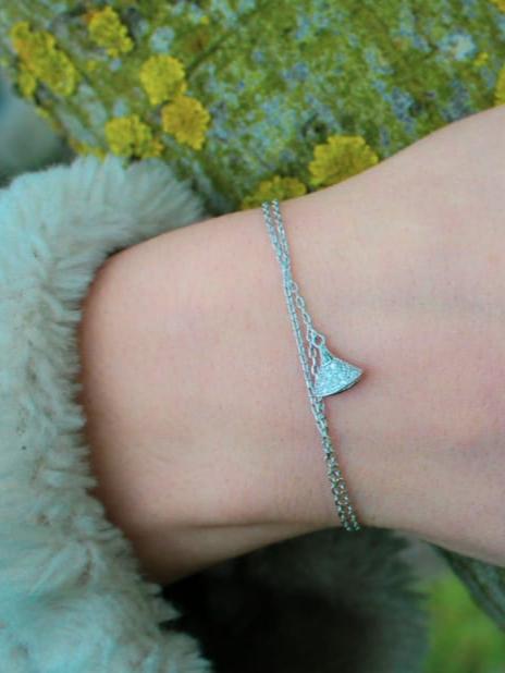 Bracelet Pierre Étoile Brillante en argent Certifié 925 pour femme