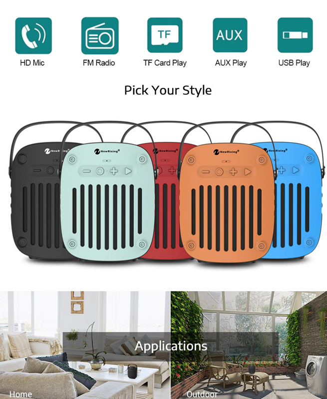 Haut Parleur NR4014 - New Rixing Portable Bluetooth