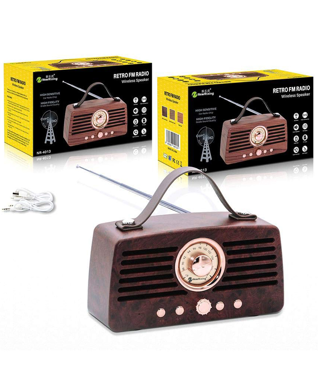 Haut Parleur Retro NR 4013 - NewRixing Bluetooth FM Radio