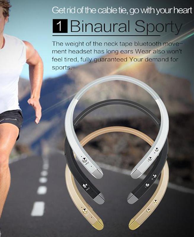 Casque HBS913 Tour de cou pour téléphone Bluetooth