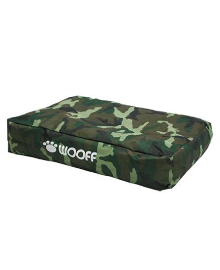 Matelas Wooff Déhoussable camouflage pour chien et chat 75x55x15cm