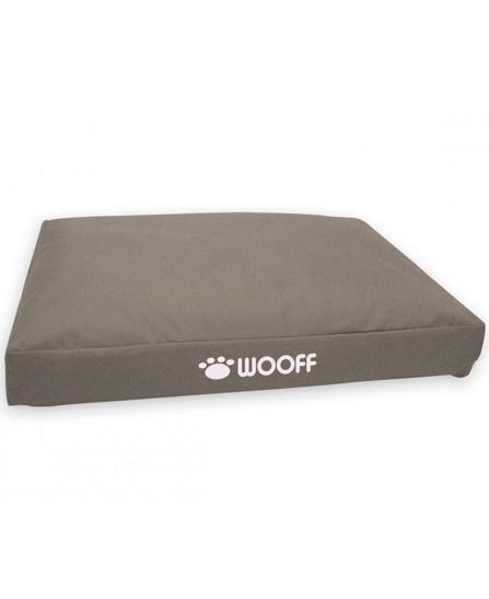 Matelas Wooff Déhoussable Colchon Box Taupe pour chien et chat L 75x55x15cm