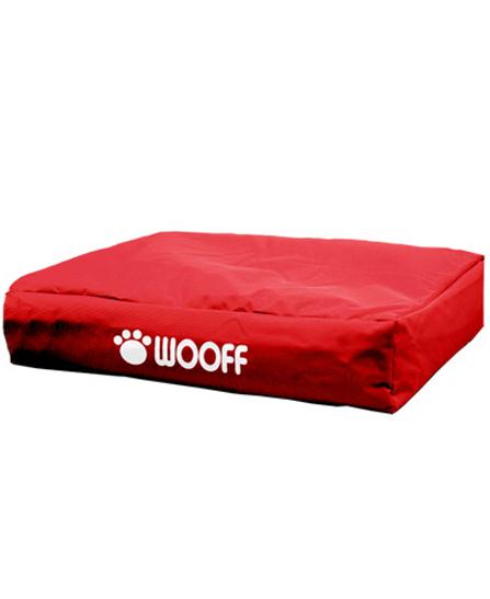 Matelas Wooff Déhoussable Rouge pour chien et chat 75x55x15cm