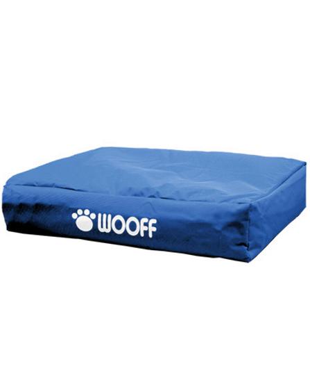 Matelas Wooff Déhoussable Bleu pour chien et chat 75x55x15cm