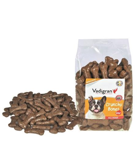 Snack chien biscuits Crunchy Bones 500g - Vadigran
