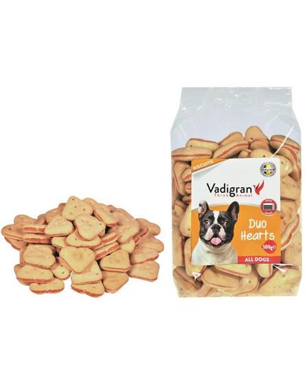 Snack chien biscuits Duo Hearts 500g - Vadigran