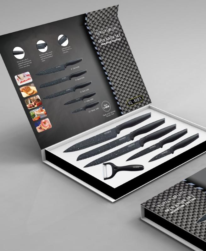 Set de couteaux avec revêtement Anti-Adhésif 6 pièces - Royalty Line