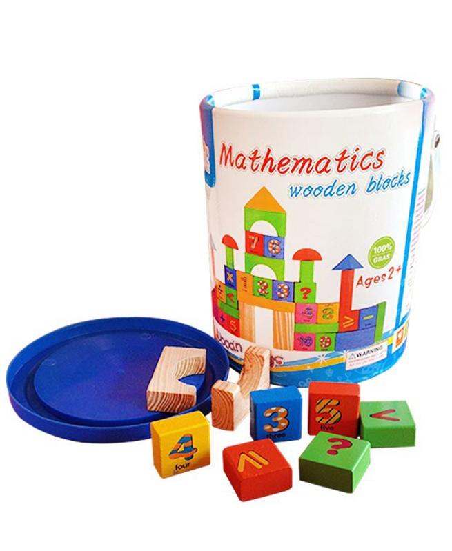Blocs Mathématiques en Bois pour enfants