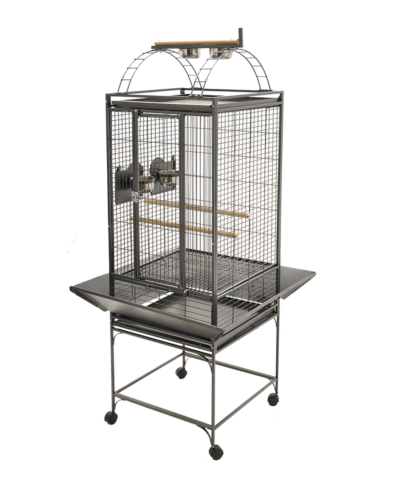 Cage pour Perroquet Evita 1 Gris Martelé de Vadigran