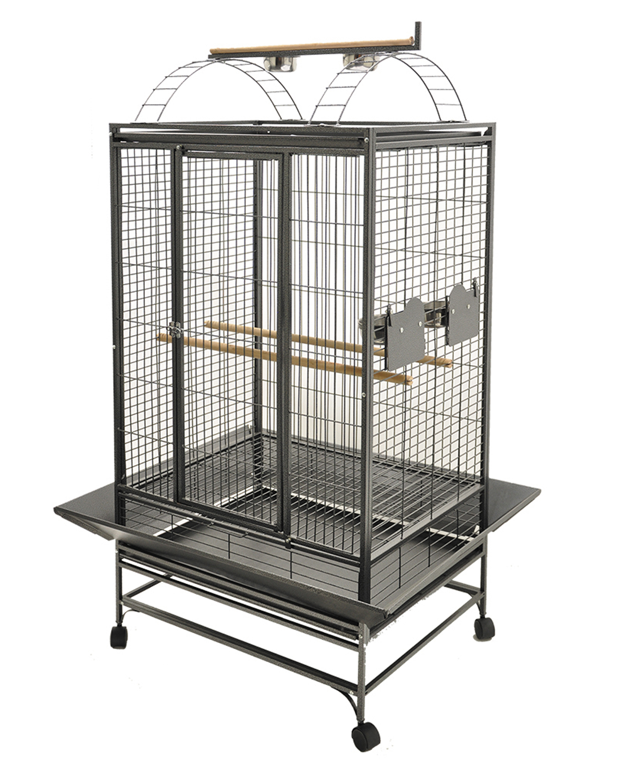 Cage pour Perroquet Evita 2 Gris Martelé de Vadigran