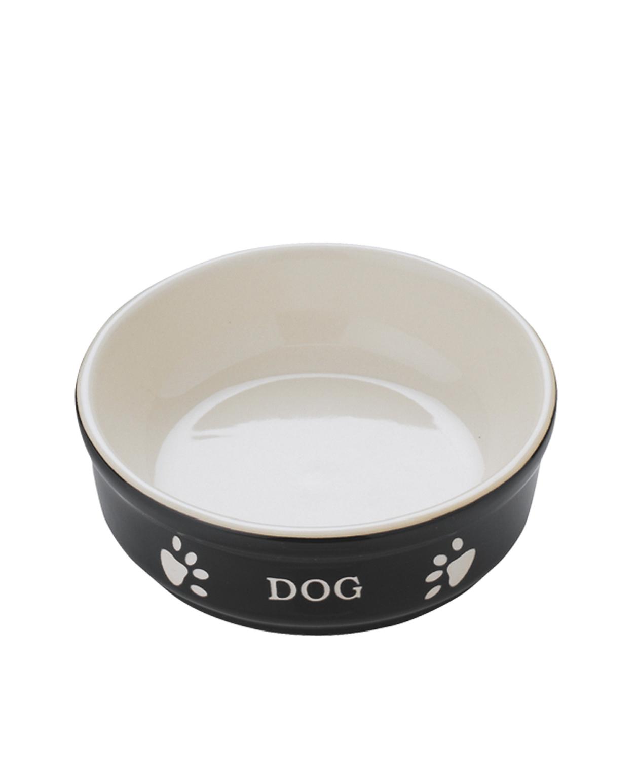 Mangeoire chien terre cuite noir 12 cm - Vadigran