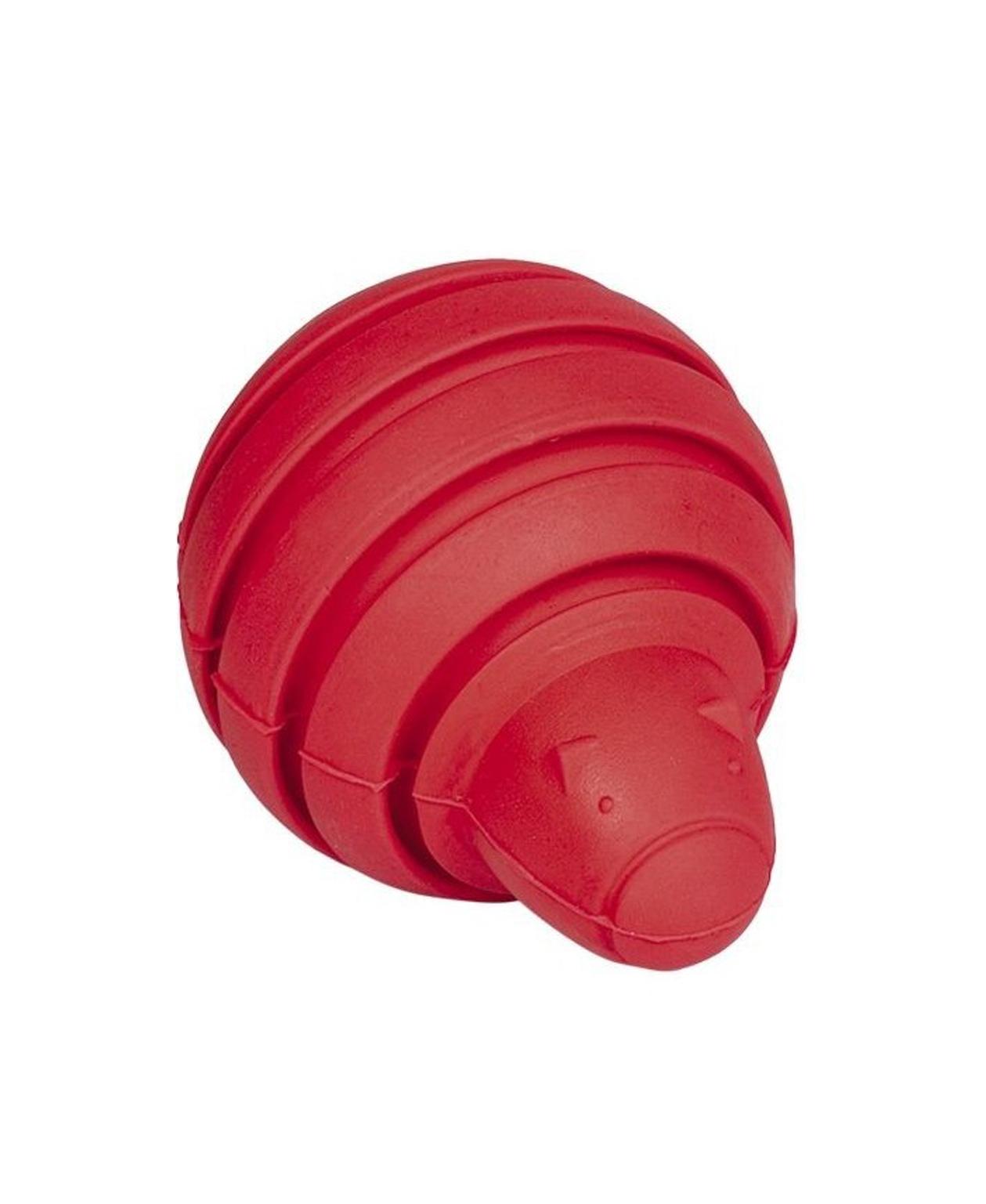 Jouet chien Rubber Line en caoutchouc rouge 10 cm - Nobby