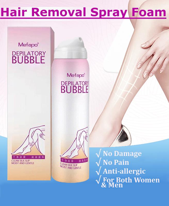 Crème dépilatoire naturelle pour les hommes et les femmes - Épilation permanente Bikini - Bubble Mefapo