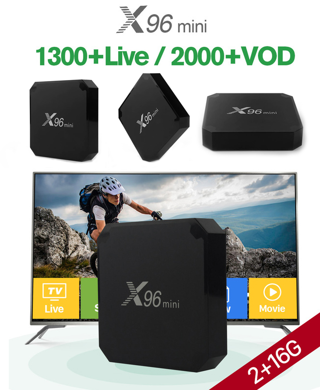 X96 Mini - 16gb - 2 gb ram - Android 7.1 - Noir - Smart Tv Box