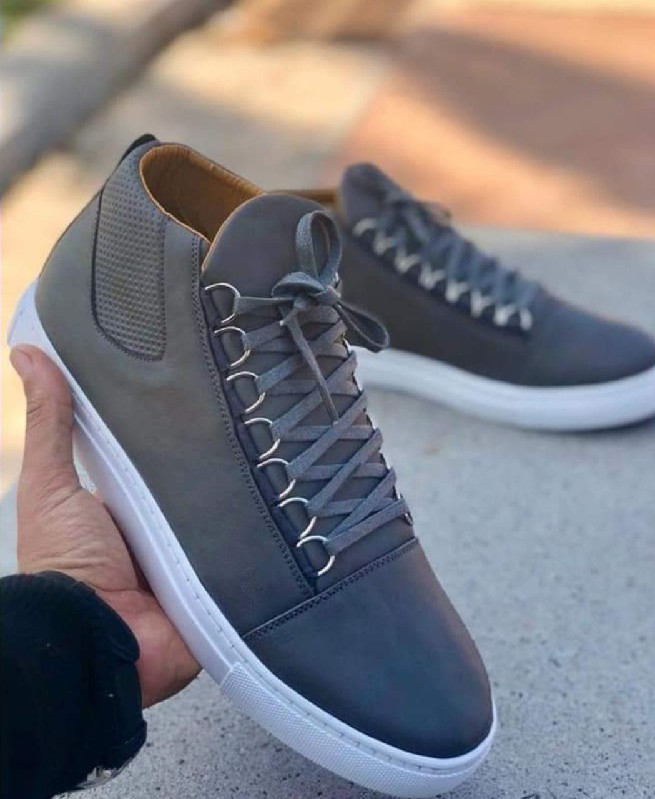 Chaussures Montantes Gris homme - Fashion hiver 2019