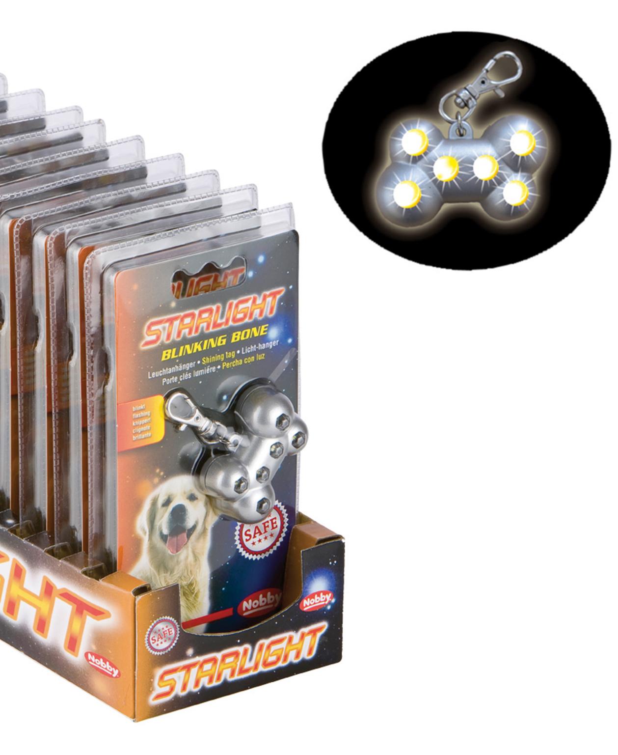 Led Lampe de sécurité Blinking Bone 5cm pour chien - Nobby