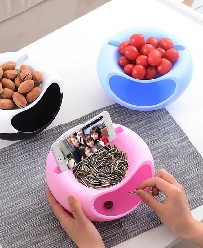 Bol de rangement créatif en plastique graines tournesol et fruits