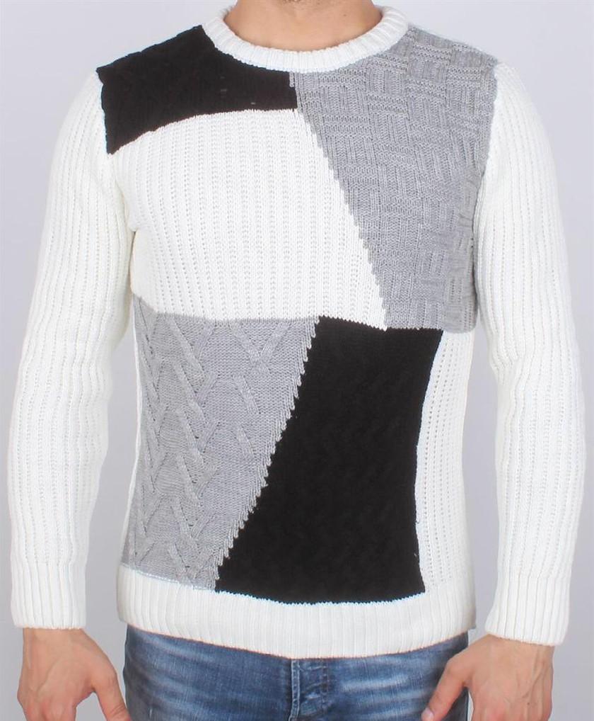 Pull en laine Tricot Fort Mosaique B.G.N Turk - Ce & Ce Fashion