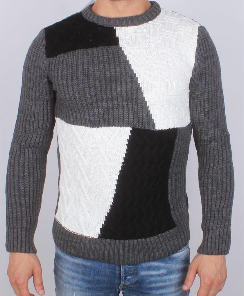 Pull en laine Tricot Fort Mosaique G.N.B Turk - Ce & Ce Fashion