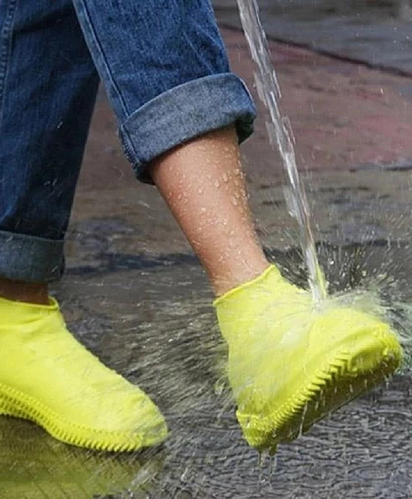 Couvre-chaussures étanche en Silicone unisexe protecteurs bottes de pluie