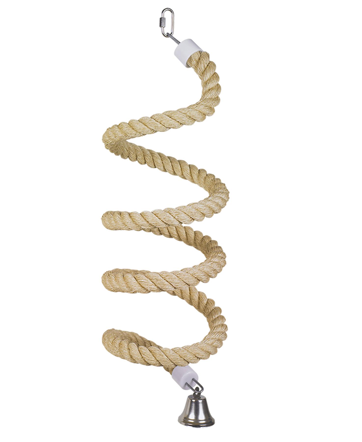 Jouet oiseau sisal corde boing 3,8cm 60cm pour perroquet - Nobby