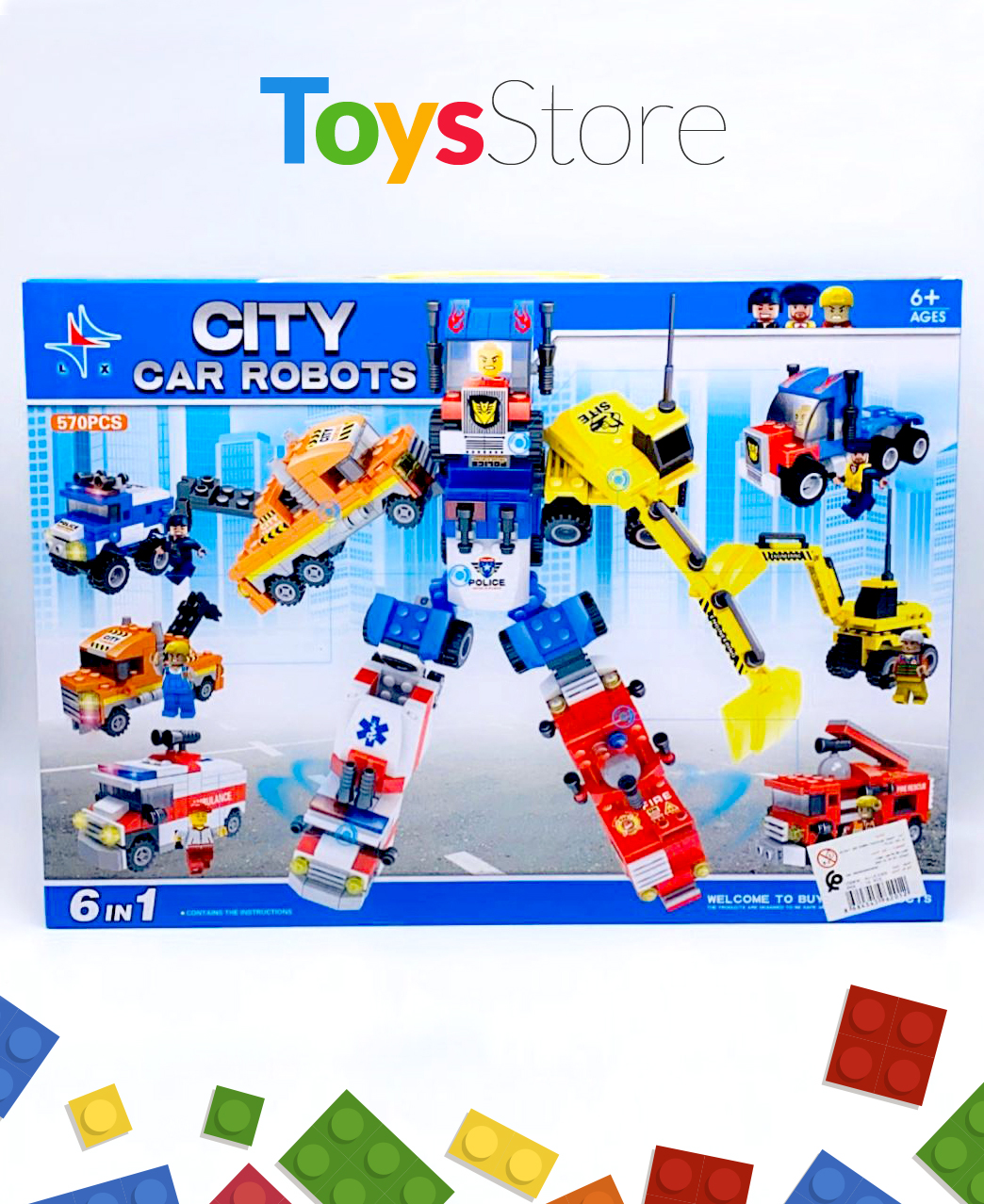 Jouets voitures transformables en Robot 6 en 1 - City Car Robot
