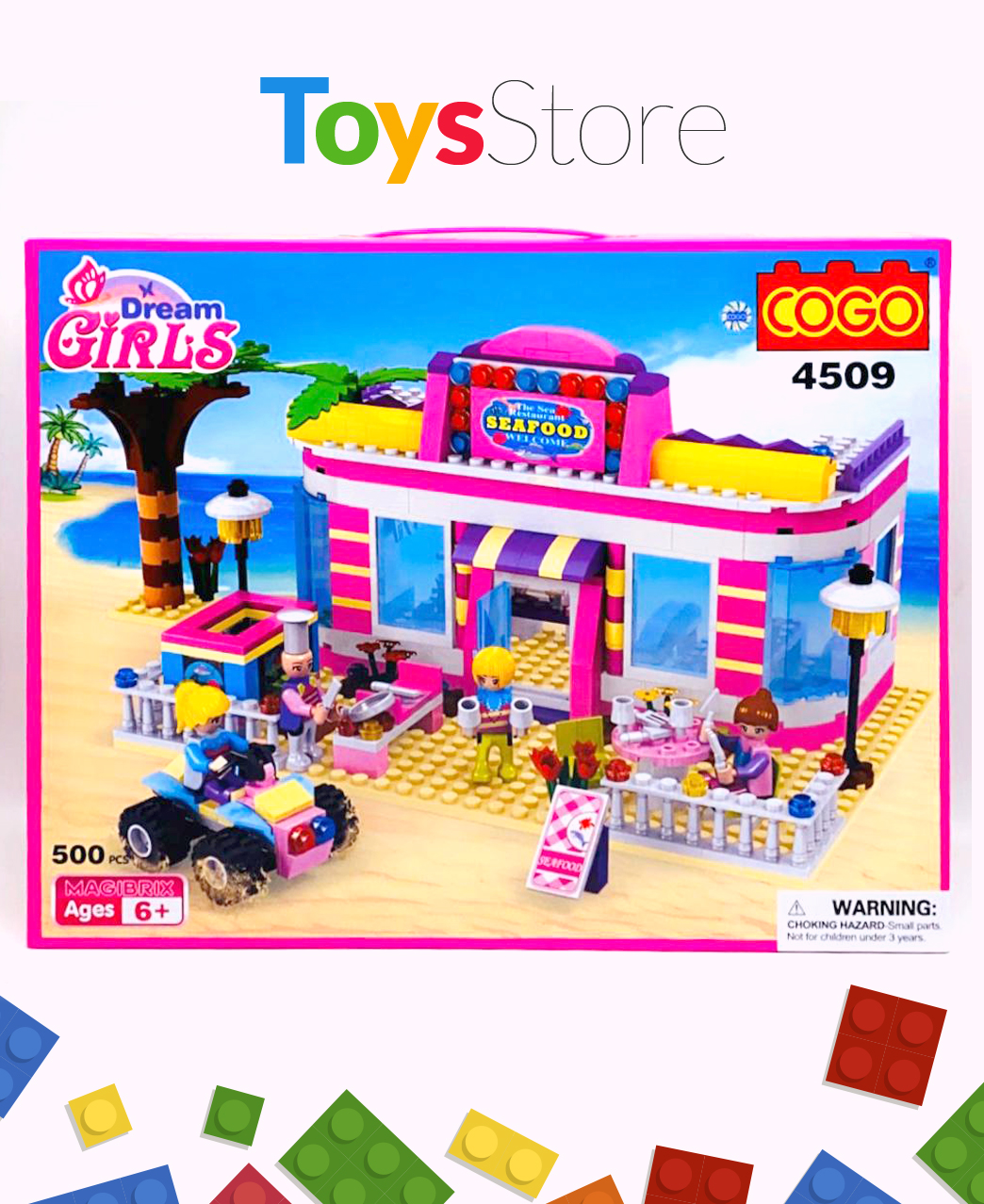 Jeux de construction briques model restaurant pour filles 500 Pcs - Cogo