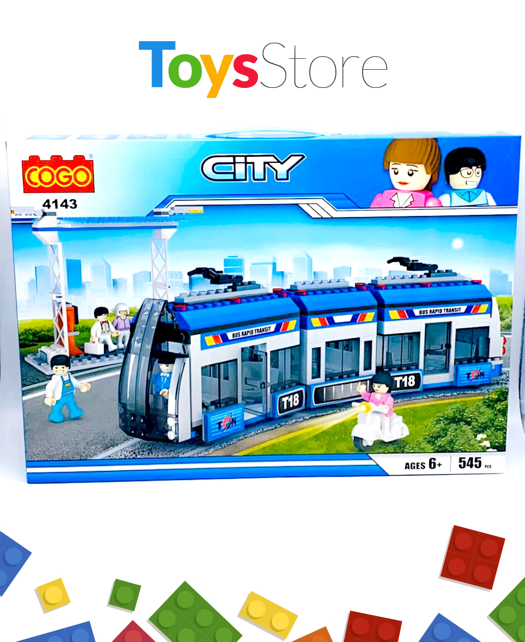 Jeux de construction briques model Tram Way 545 Pcs - Cogo