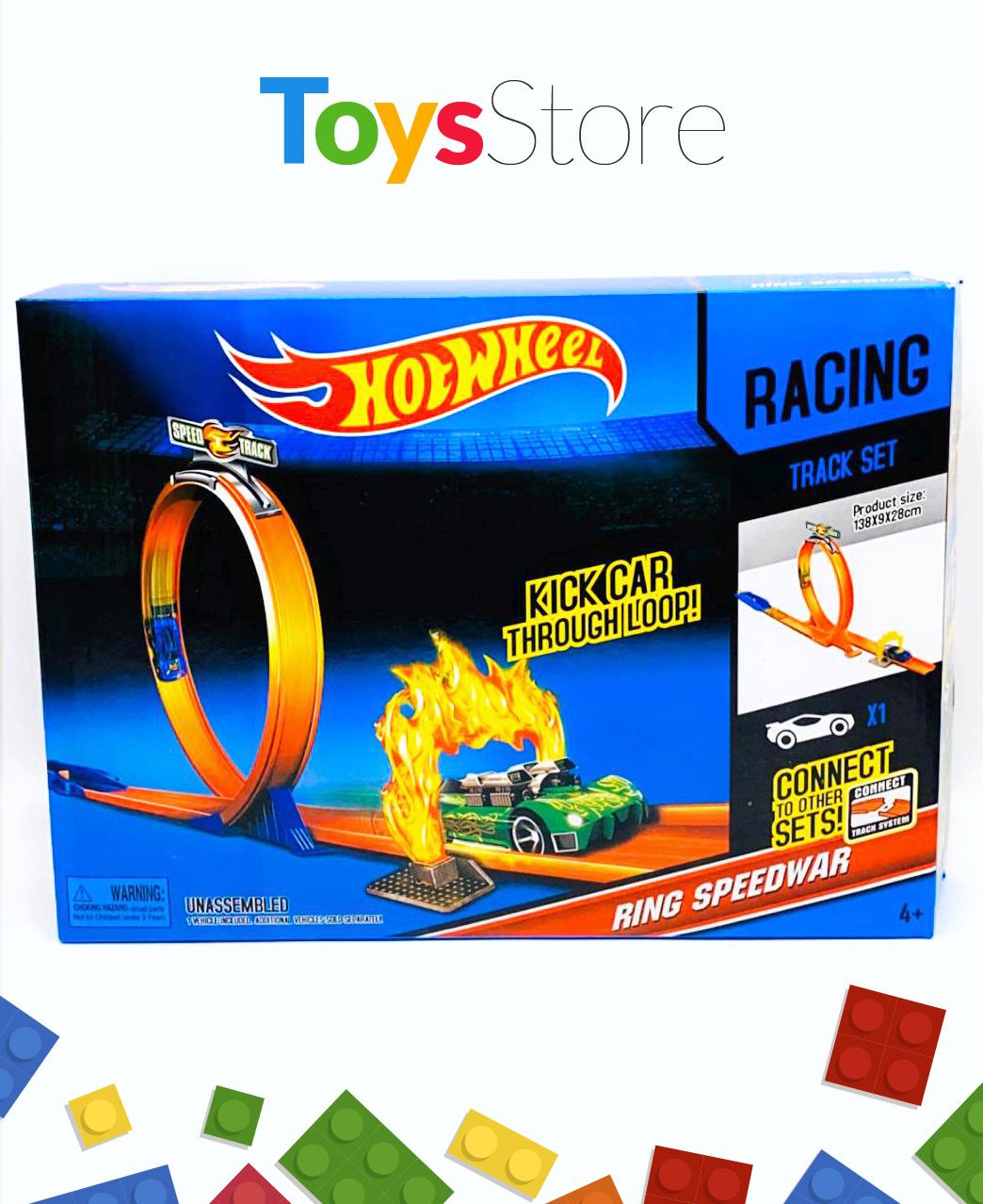 Jeux Piste de course Hot Wheels Speed track pour garçon de 4 à 10 ans