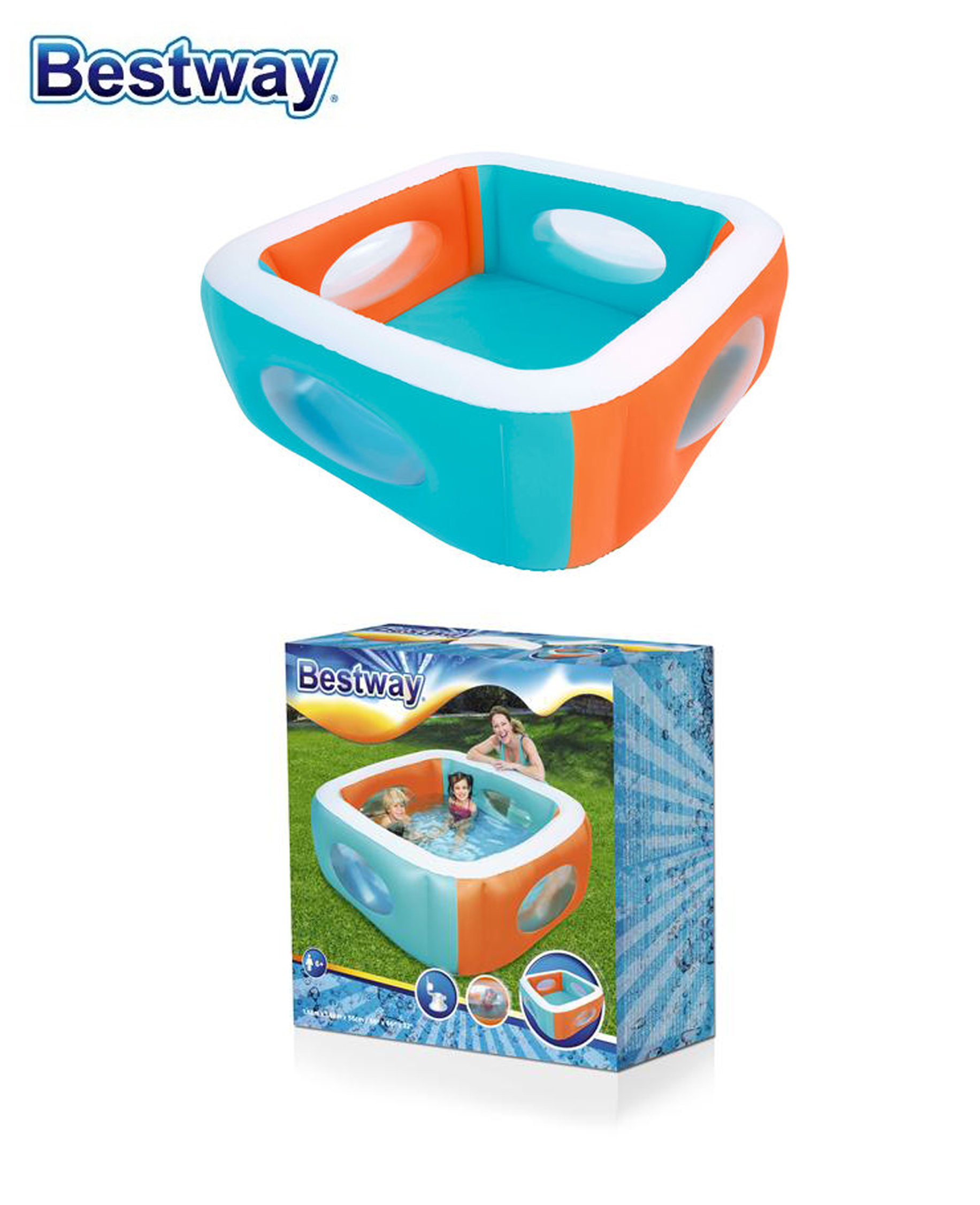 Piscine Window Pataugeoire 168 X 168 X 56 Cm - Bestway
