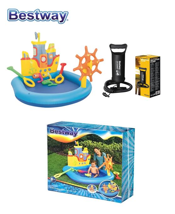 Piscine gonflable bateaux + pompe 140 x 130 x 104 - Bestway