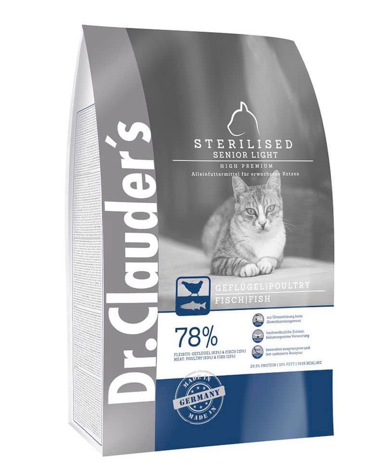 Croquette Chat High Premium Cats Stérilisé Senior / Light 1,5kg - Dr Clauder's