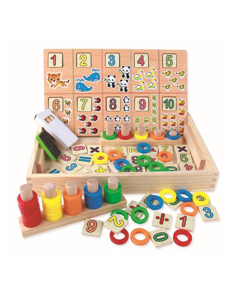 Jeu des opérations mathématiques pour garçon et filles - Montessori