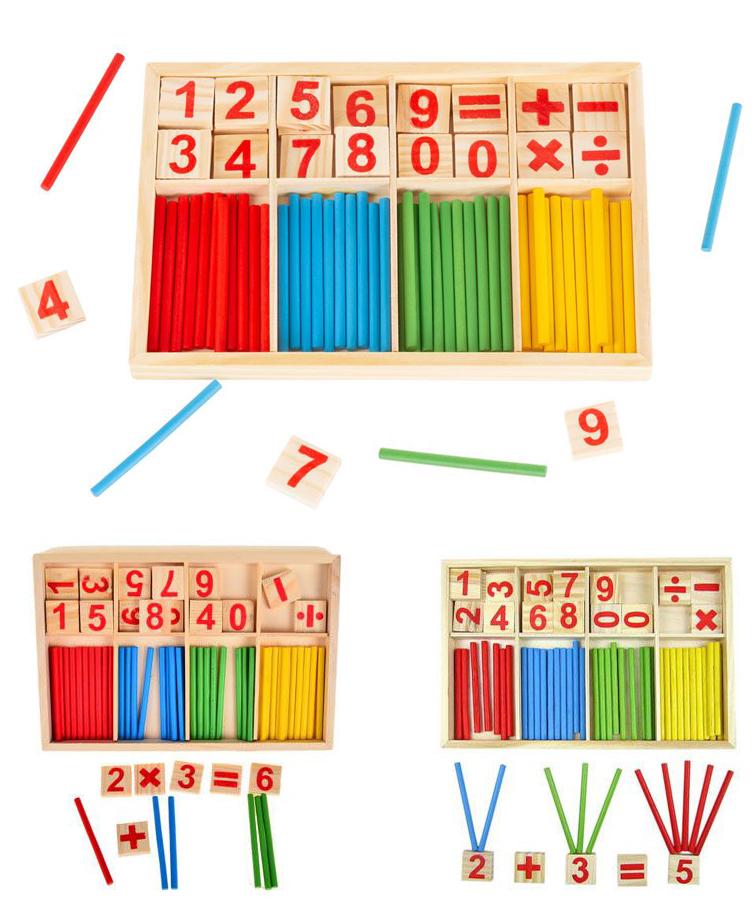 Jeu Educatif Bâton de Calcul Mathématique en Bois - Montessori