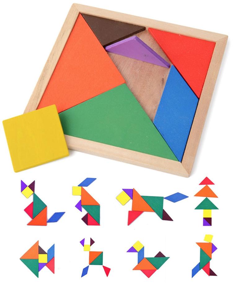 Jouet Educatif Tangram en bois - Montessori