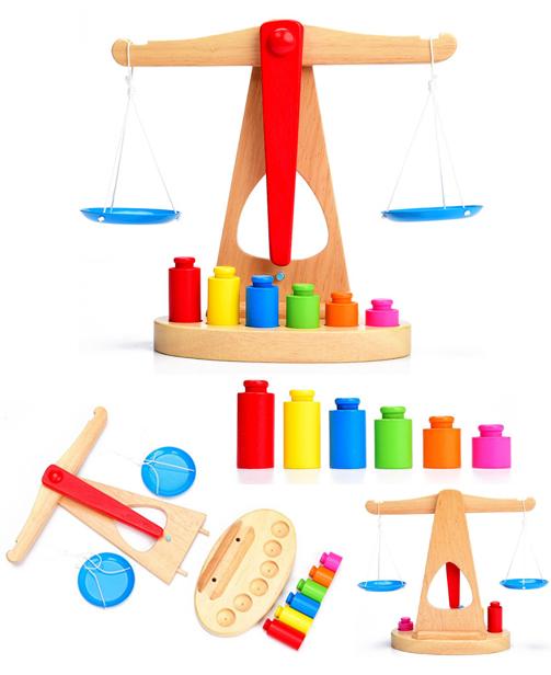 Jouet Educatif Balance en Bois - Montessori