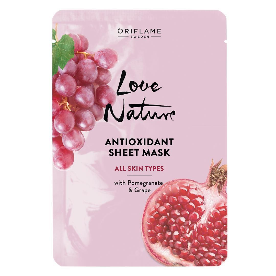 Masque en Tissu Anti Oxydant pour Tout Type de Peau Love 24ml - Oriflame