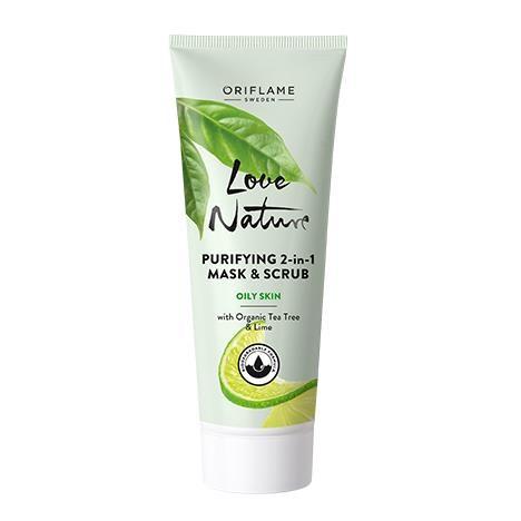 Masque et Gommage Purifiants 2 en 1 Love Nature à l'Extrait 75ml - Oriflame