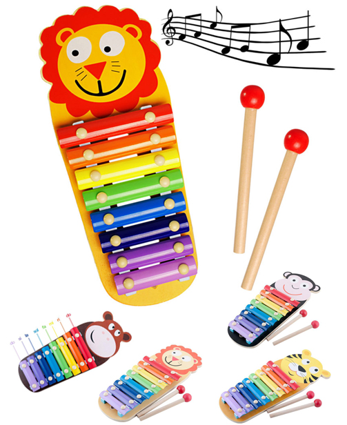 Jouet de rythme Xylophone en Bois - Montessori