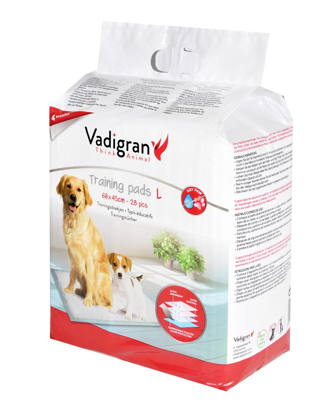 Tapis éducateurs pour chien 60x45cm 28pcs - Vadigran