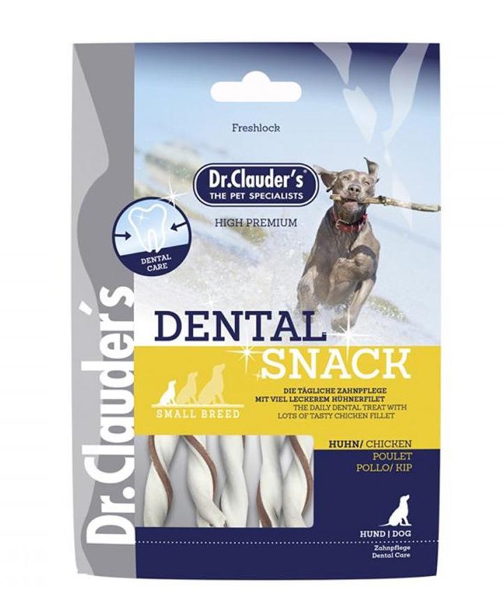 Friandises Dental snack poulet 80g pour chien - Dr Clauder's